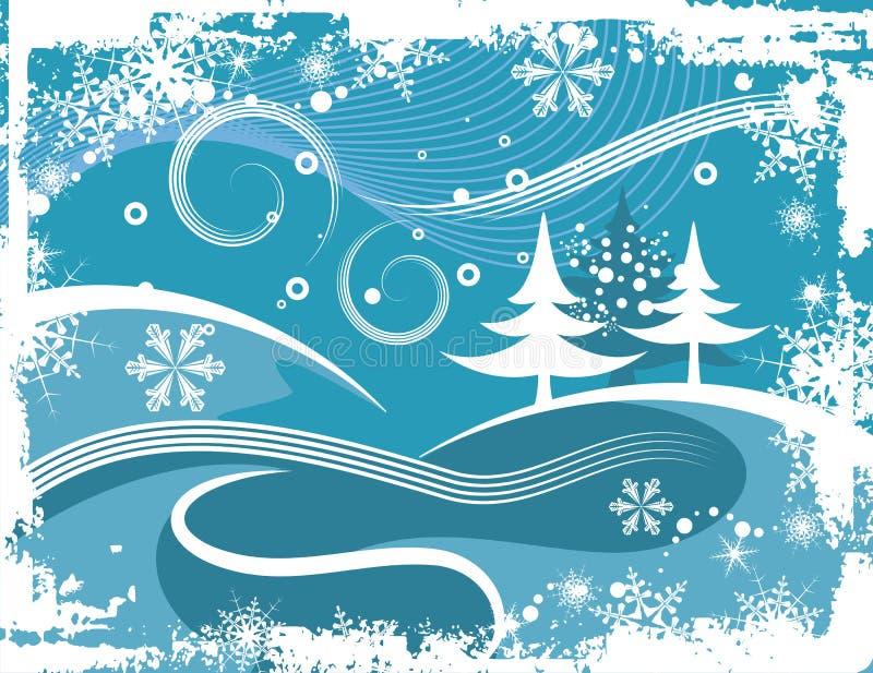 De achtergrond van de winter grunge vector illustratie