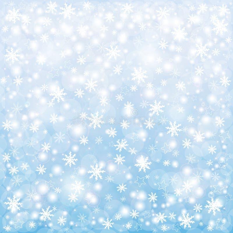 De achtergrond van de winterkerstmis royalty-vrije illustratie