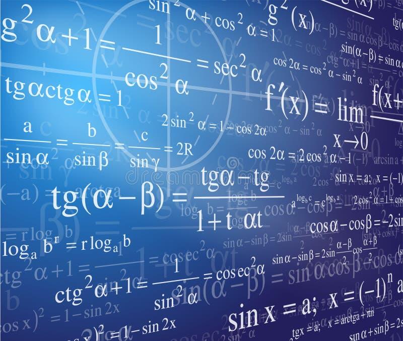 De achtergrond van de wiskunde stock illustratie