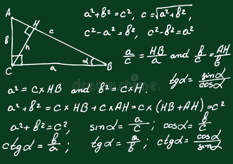 De achtergrond van de wiskunde vector illustratie