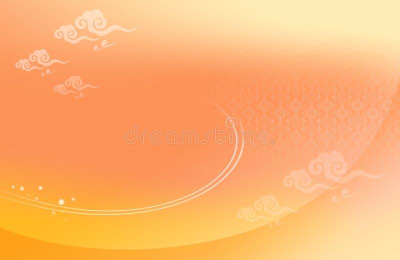 De achtergrond van de wolk royalty-vrije illustratie