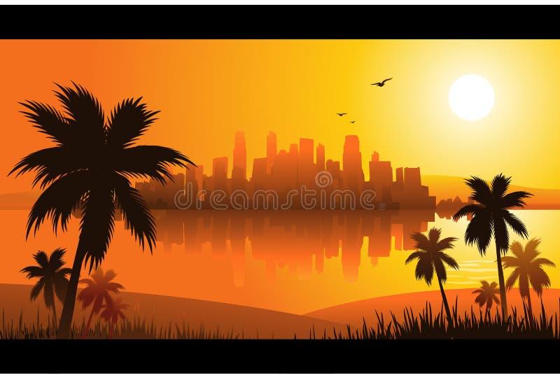 De achtergrond van de zomer royalty-vrije illustratie