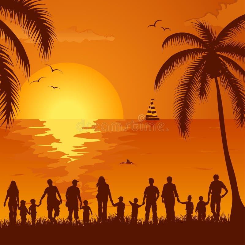 De achtergrond van de zomer stock illustratie