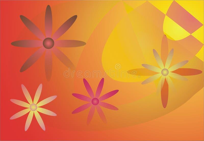 De achtergrond van de zomer vector illustratie
