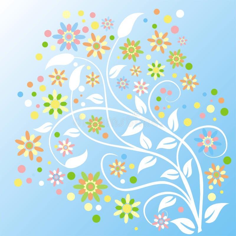 De achtergrond van de zomer, vector royalty-vrije illustratie