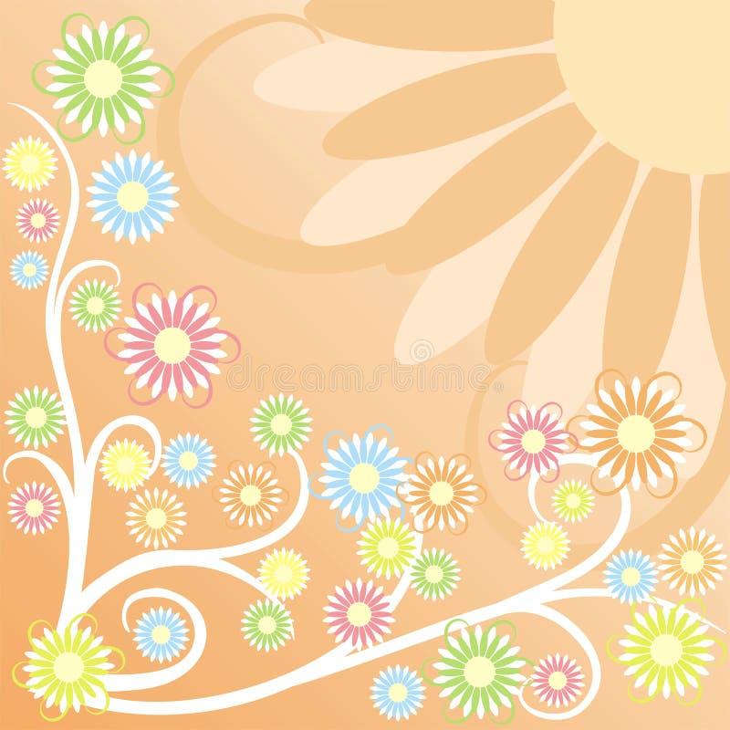 De achtergrond van de zomer, vector stock illustratie