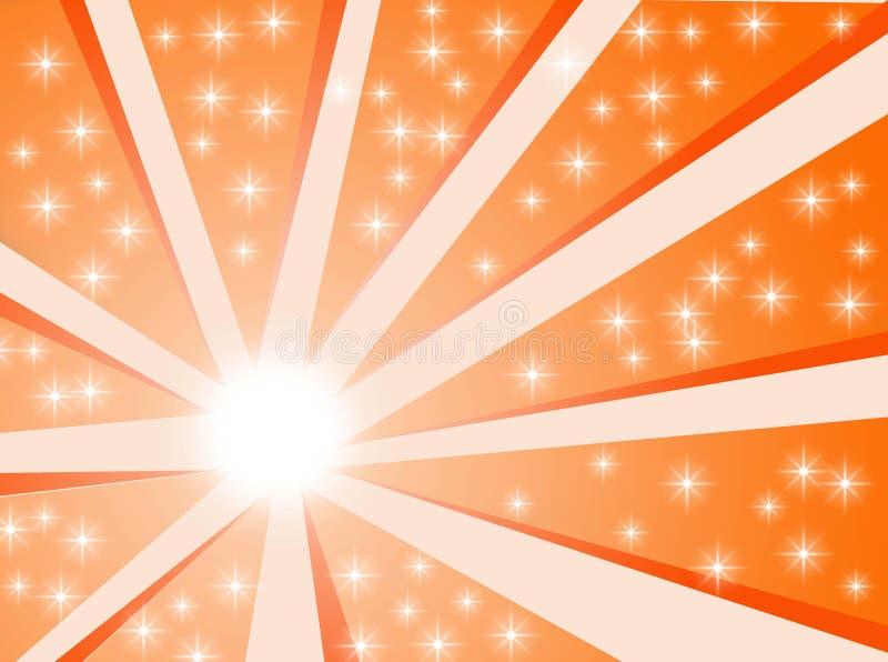 De achtergrond van de zon vector illustratie