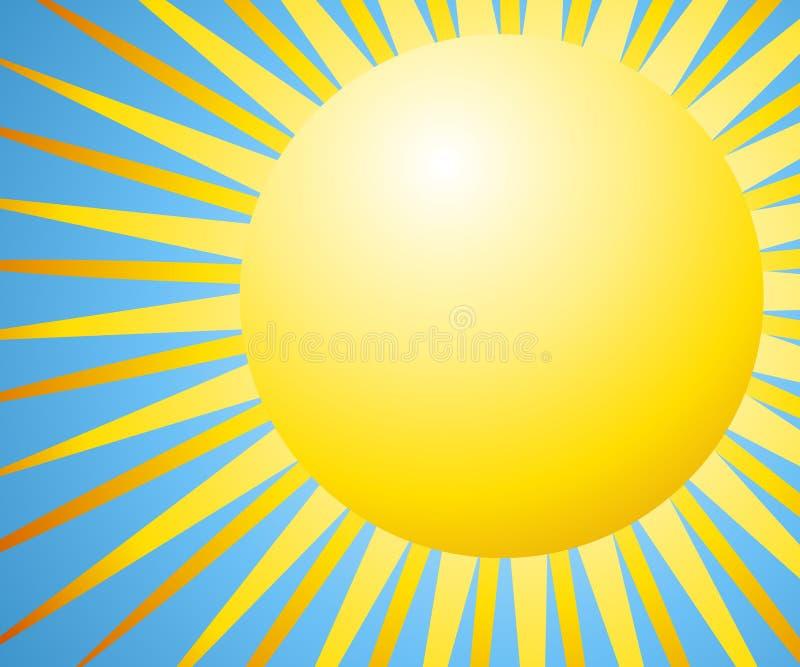 De Achtergrond van de zon met Stralen stock illustratie
