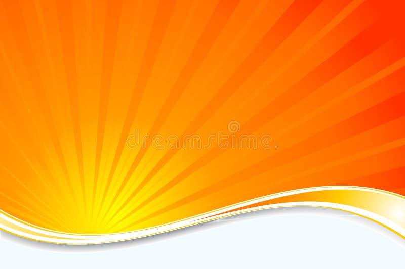 De achtergrond van de zonnestraal royalty-vrije illustratie