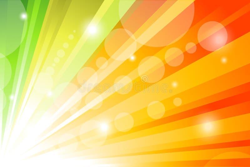 De achtergrond van de zonnestraal vector illustratie