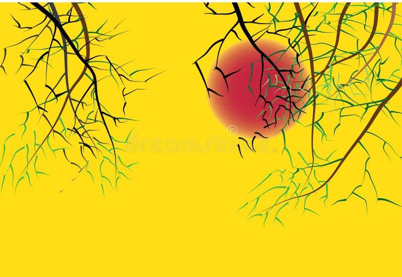 Download De Achtergrond Van De Zonsondergang Vector Illustratie - Illustratie bestaande uit ontwerp, art: 54078361