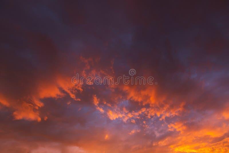 De achtergrond van de zonsondergang stock foto's