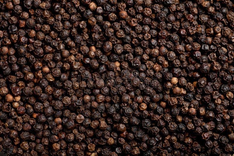 De achtergrond van de zwarte peper royalty-vrije stock foto