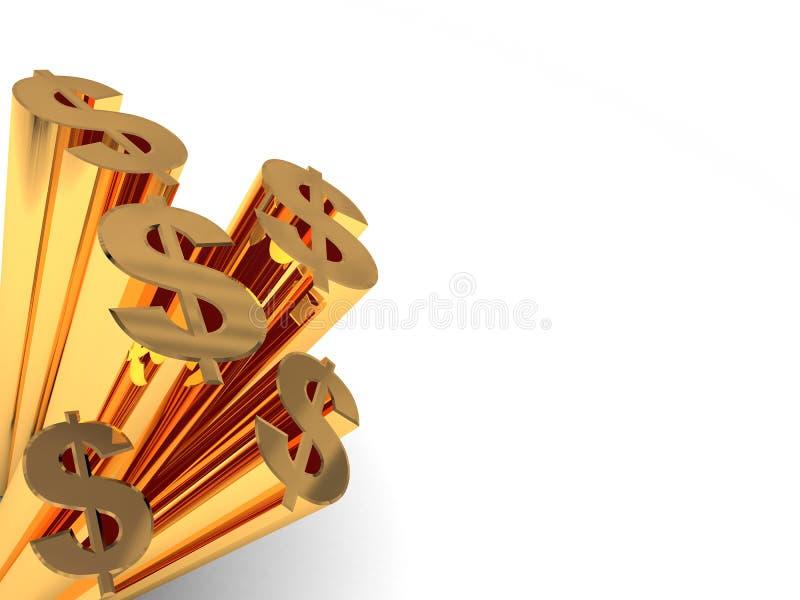 De achtergrond van dollars stock illustratie