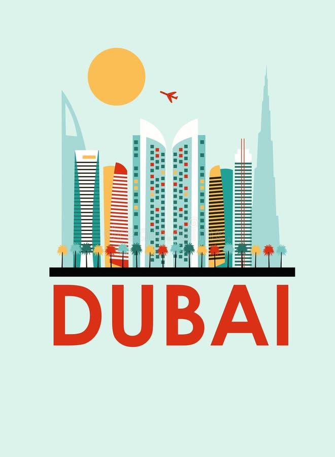 De achtergrond van Doubai tavel royalty-vrije illustratie