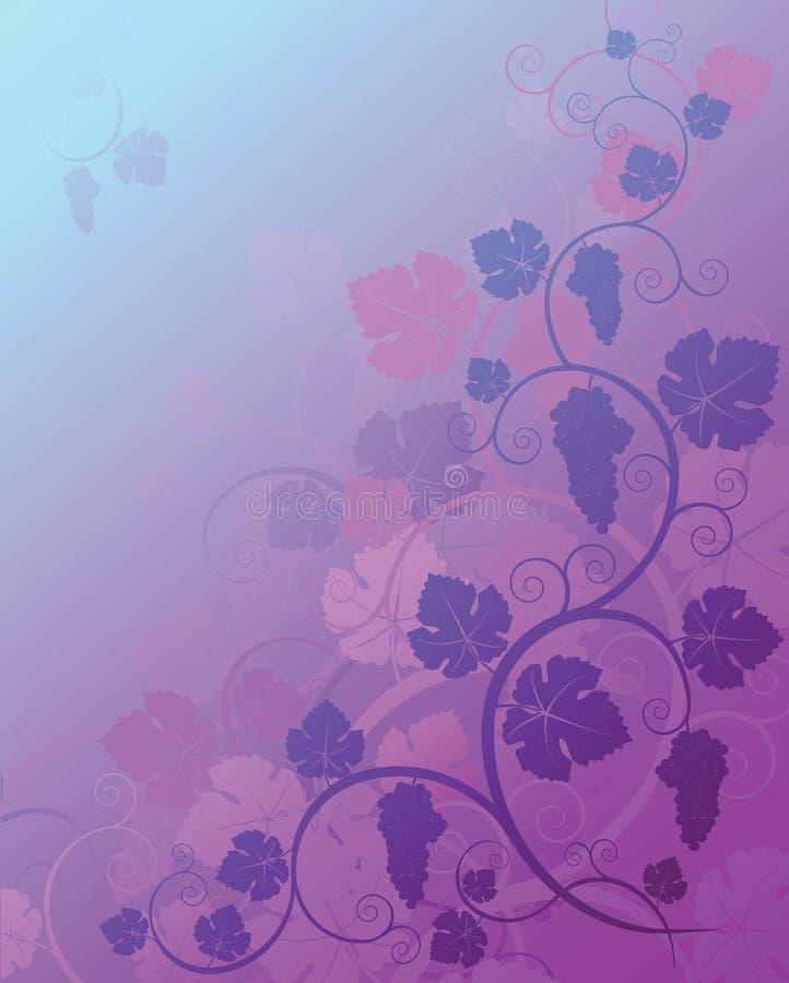 De achtergrond van druiven stock illustratie