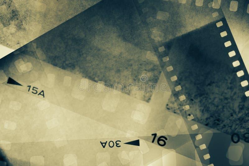 De achtergrond van filmkaders stock afbeeldingen
