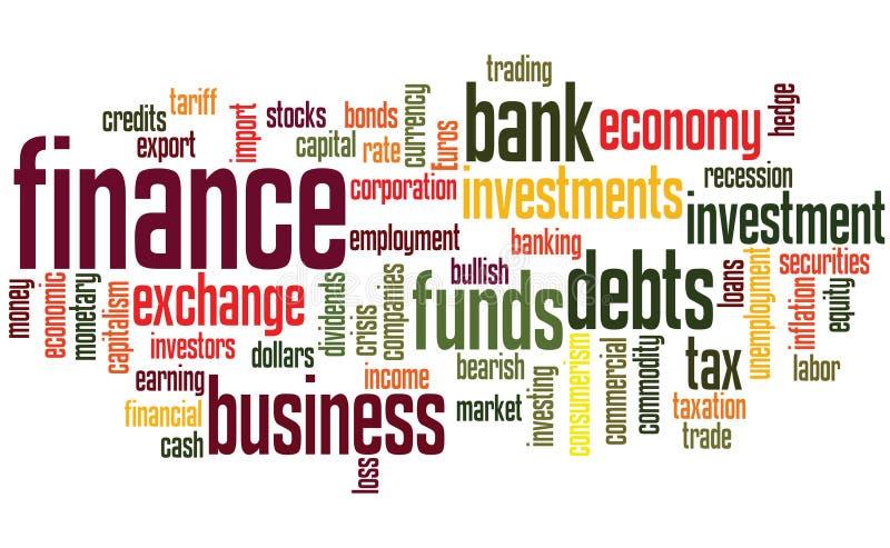 De achtergrond van financiën royalty-vrije illustratie