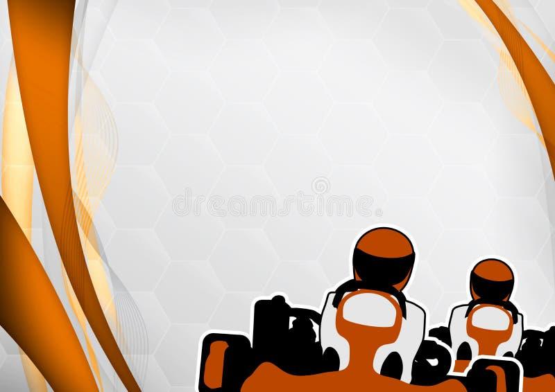 De achtergrond van Gokart vector illustratie