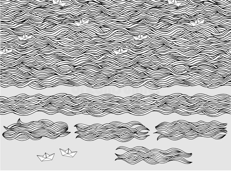 De achtergrond van golven vector illustratie
