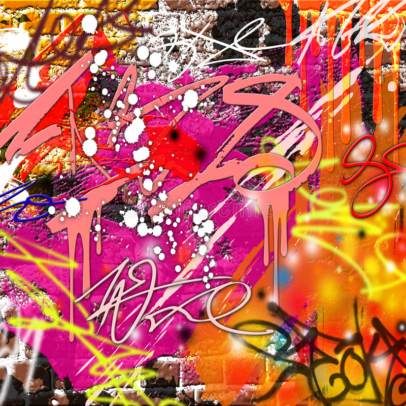 De Achtergrond van Graffiti royalty-vrije illustratie