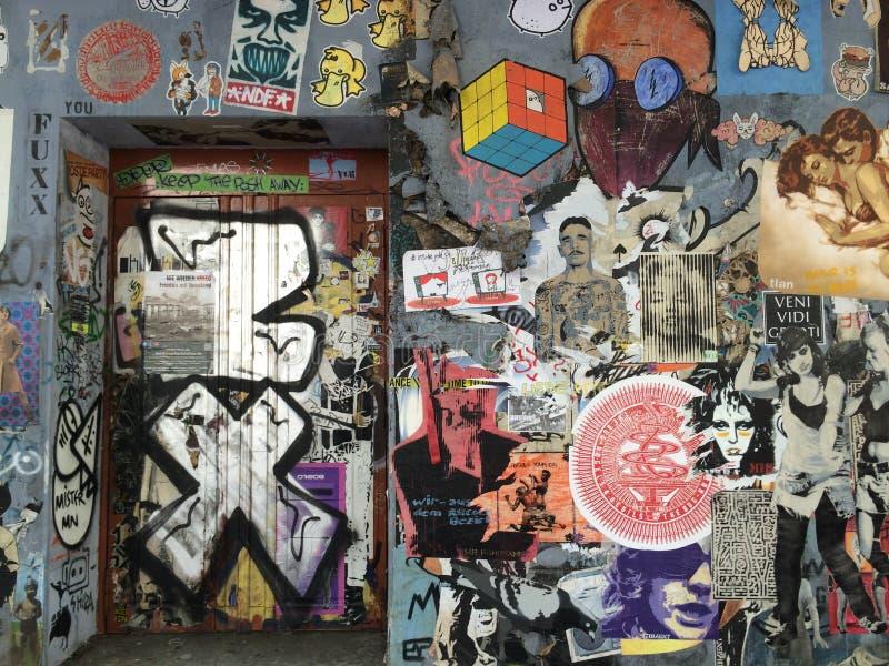 De achtergrond van Graffitti Wall stock fotografie