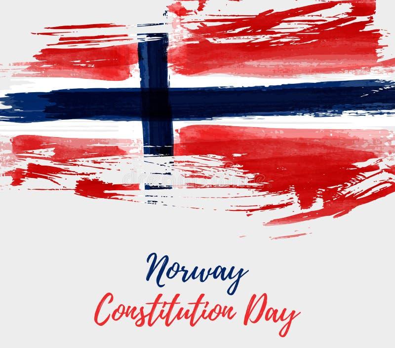 De achtergrond van de de Grondwetsdag van Noorwegen royalty-vrije illustratie