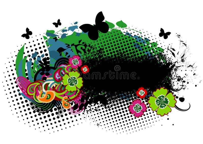 Download De achtergrond van Grunge vector illustratie. Illustratie bestaande uit daling - 10782510