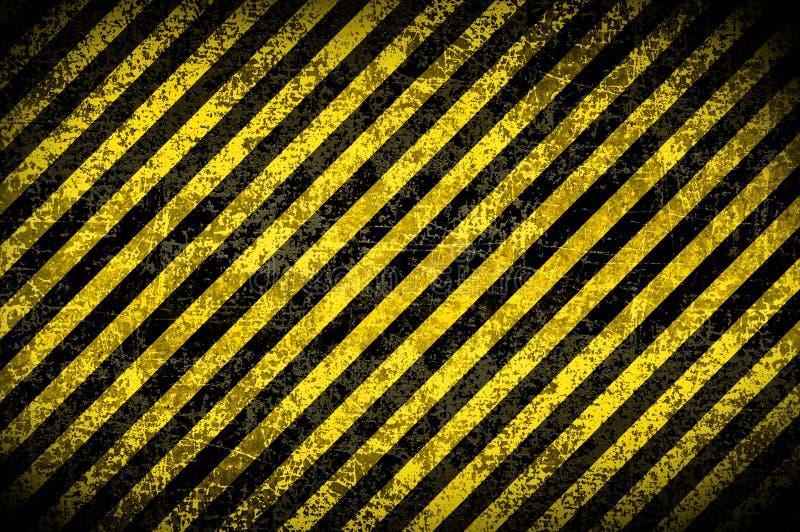 De achtergrond van Grunge, gele strepen royalty-vrije illustratie