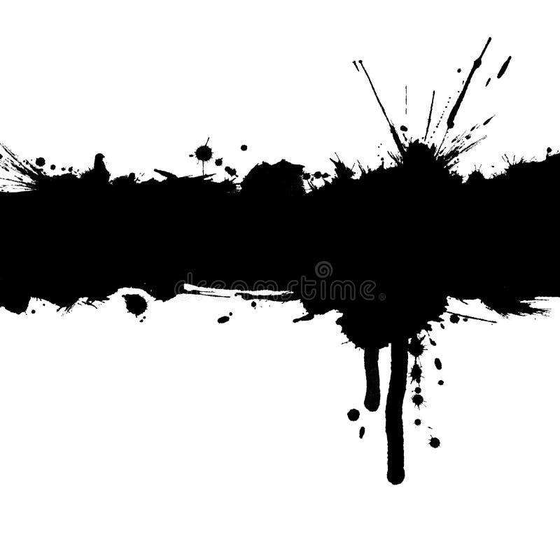 De achtergrond van Grunge met inktstrook en vlekken. royalty-vrije illustratie