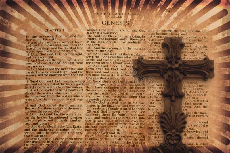 De Achtergrond van Grunge met Kruis royalty-vrije illustratie