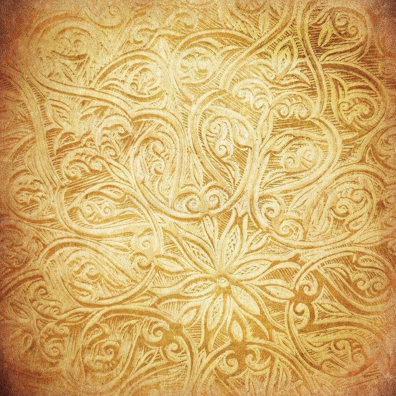De achtergrond van Grunge met oosterse ornamenten royalty-vrije stock foto's