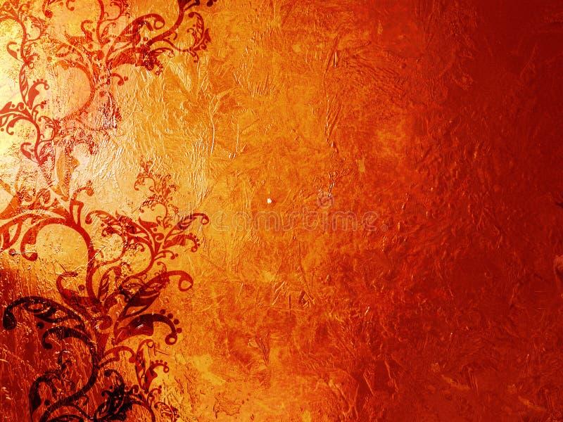 De achtergrond van Grunge met ornamenten vector illustratie
