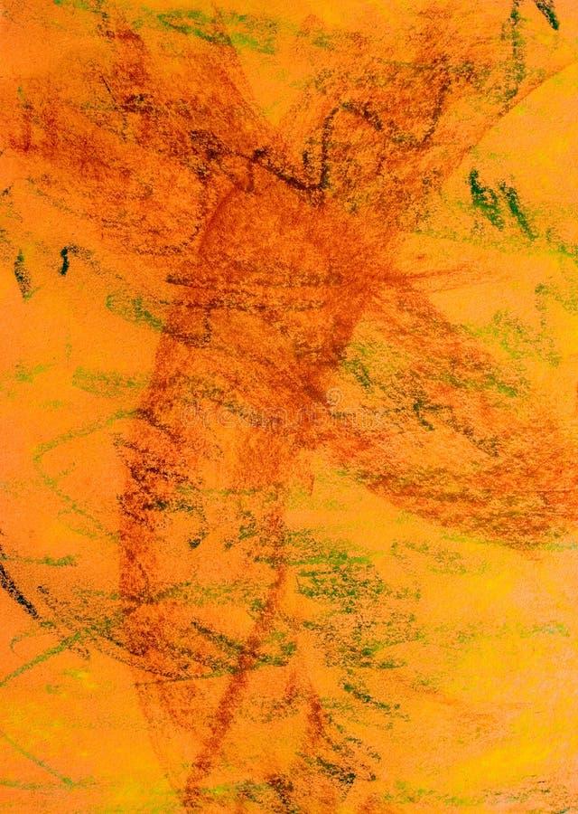 De Achtergrond van Grunge van de pastelkleur: Oranje Reeks stock foto