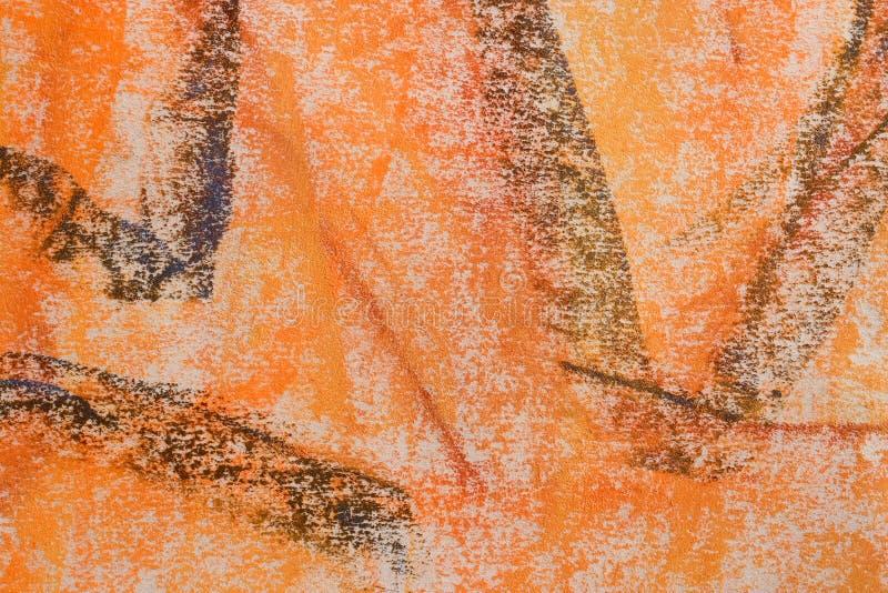De Achtergrond van Grunge van de pastelkleur: Oranje Reeks royalty-vrije stock foto's