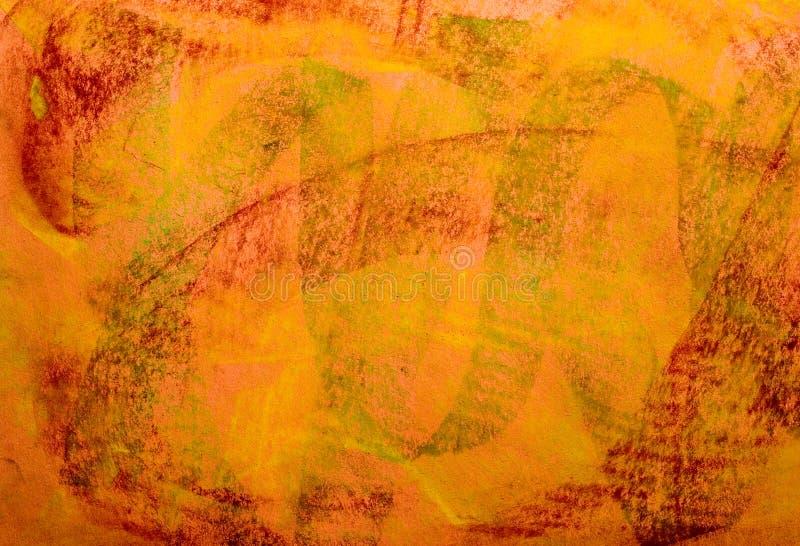 De Achtergrond van Grunge van de pastelkleur: Rode Groene Sinaasappel royalty-vrije stock afbeelding