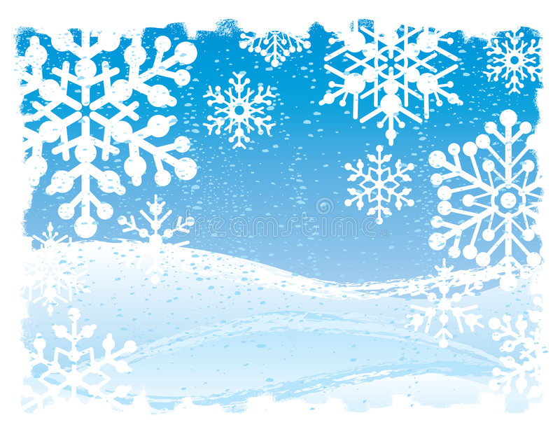 De Achtergrond van Grunge van de sneeuwvlok vector illustratie