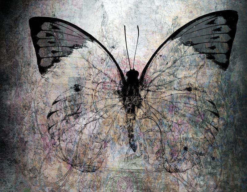 De achtergrond van de Grungevlinder royalty-vrije stock afbeeldingen