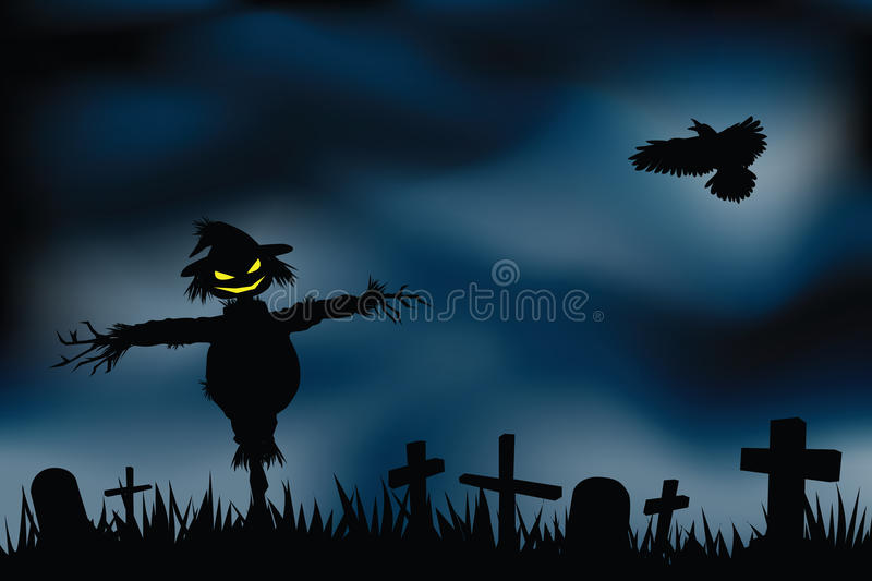 De achtergrond van Halloween stock illustratie