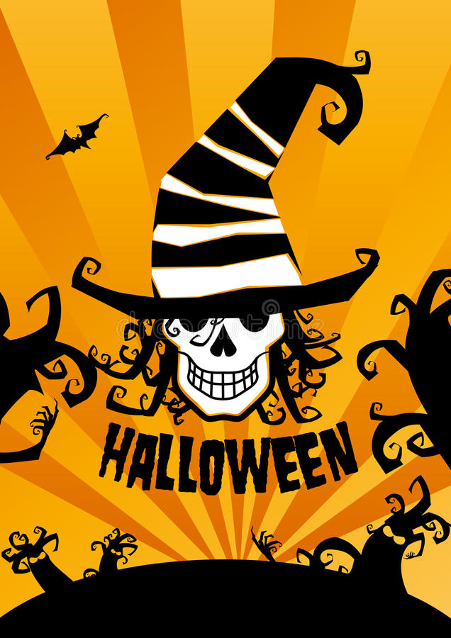 De achtergrond van Halloween. vector illustratie