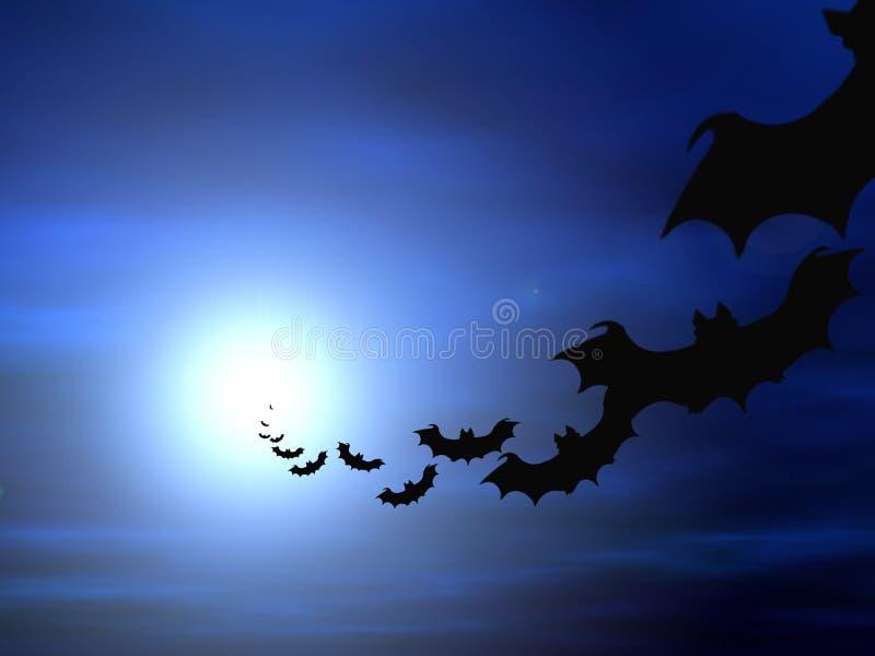 Download De Achtergrond Van Halloween Stock Illustratie - Illustratie bestaande uit blauw, hemelen: 289431