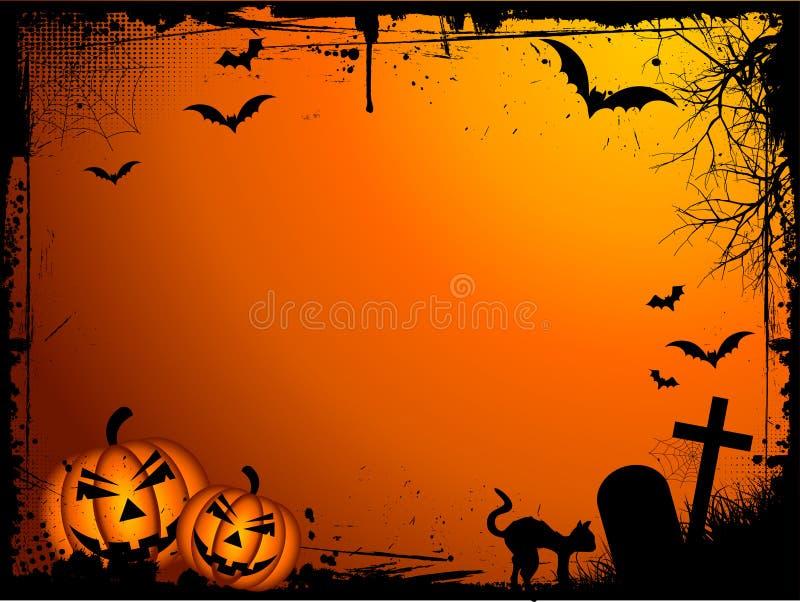 De achtergrond van Halloween van Grunge royalty-vrije illustratie