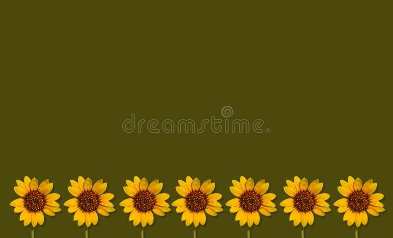 De achtergrond van de Happpyzomer met zonnebloemen royalty-vrije stock fotografie