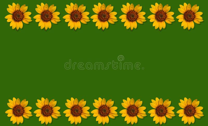 De achtergrond van de Happpyzomer met zonnebloemen royalty-vrije stock foto