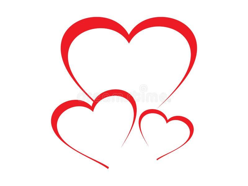 De Achtergrond van harten stock illustratie