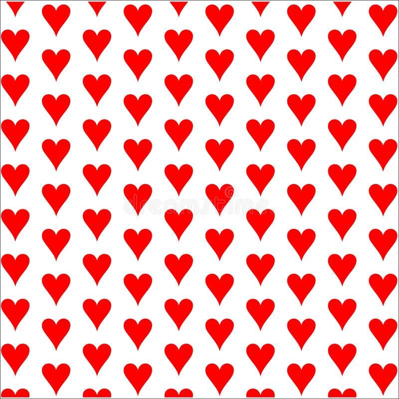 De achtergrond van harten Het pictogram van het kaartkostuum stock illustratie