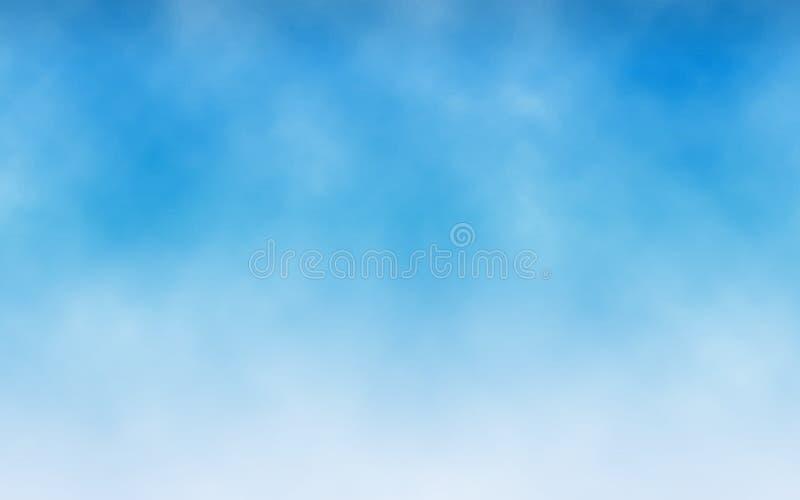 De achtergrond van de hemel Witte wolken in blauwe hemel Realistische textuur voor website Abstracte achtergrond Minimalistisch o stock illustratie