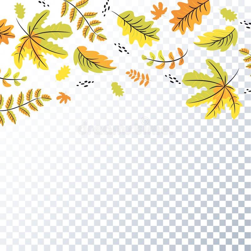 De achtergrond van de herfstbladeren, achtergrond, malplaatje royalty-vrije illustratie