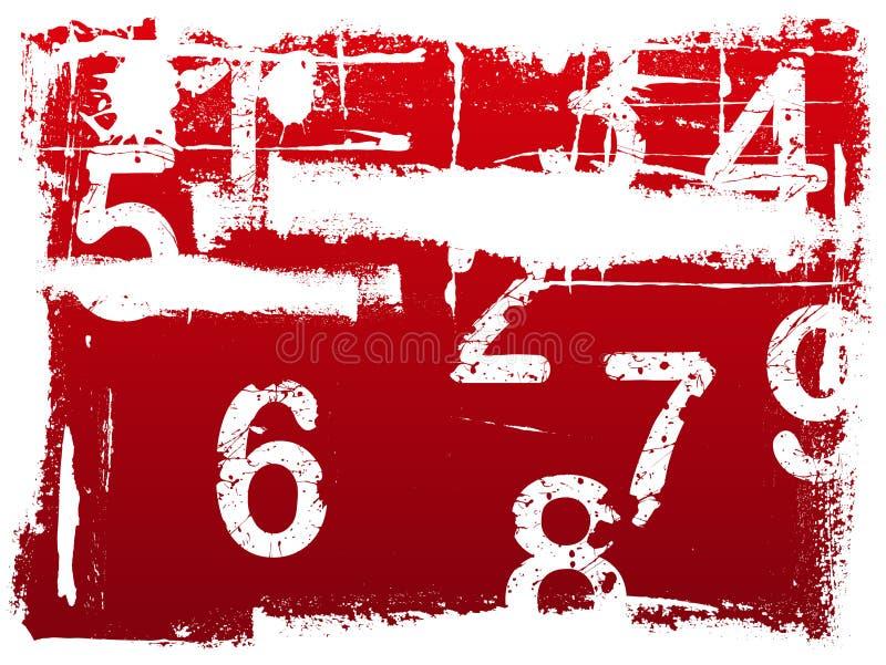 De Achtergrond van het Aantal van Grunge vector illustratie