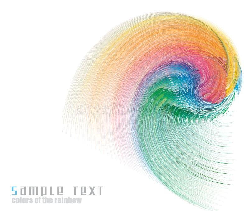 De Achtergrond van het Adreskaartje van het Spectrum van de Kleuren van de regenboog stock illustratie